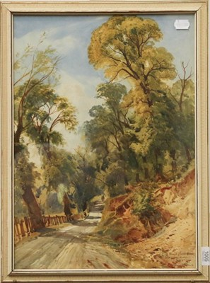 Lot 1005 - Bernard Evans (19th/20th century), A road through Bolton Woods, A Sketch from Nature, signed...