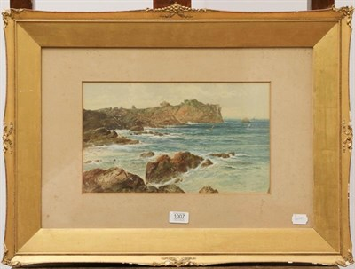 Lot 1007 - William Henry Vernon (19th/20th century) View of the coast, signed watercolour, 22cm by 37cm