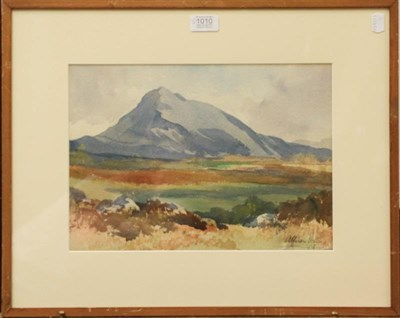 Lot 1010 - Alison Frome? (20th century) Mountain landscape, signed and dated 1936, watercolour, 25cm by...