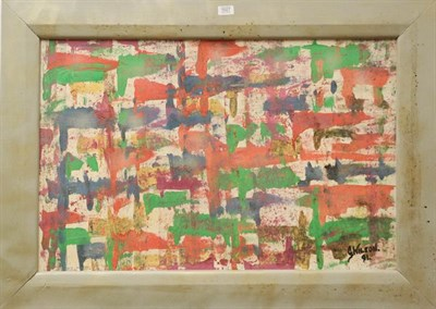 Lot 1027 - G Wilson (Contemporary) abstract, oil on canvas, signed and dated (19)91, 56cm by 86cm