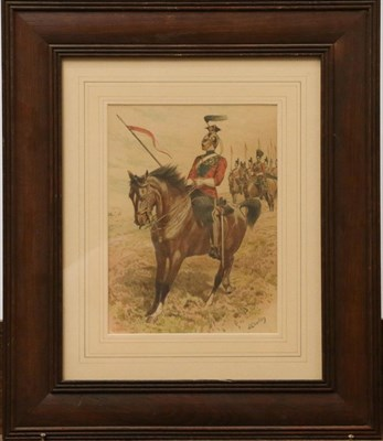 Lot 1029 - Snaffles ''Wipers'' print, together with a John Charlton print of a mounted soldier, and a set...