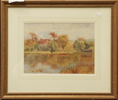 Lot 1031 - Frank A Goodwin (fl. 1887-1907) Country landscape, signed and dated 1898 watercolour, 24cm by...