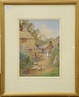 Lot 1035 - S Harris Oxton (British fl. 1886-1930) a pair of watercolour views of Glan Conway Mill, June...