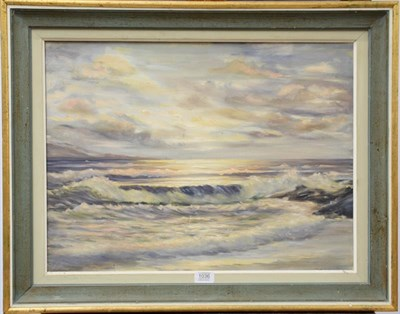 Lot 1036 - British school (20th century) ''Fast Tide'', oil on canvas, inscribed verso ''painted for...