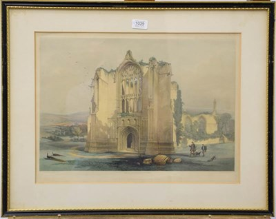 Lot 1039 - Two lithographs of Bolton Abbey and Kirkstall Abbey after W. Richardson, published in 1842, 35cm by