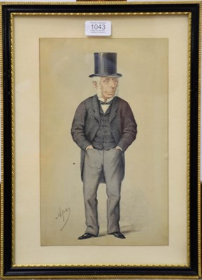 Lot 1043 - A collection of 19th/20th century prints to include Vanity Fair cartoons of politicians,...