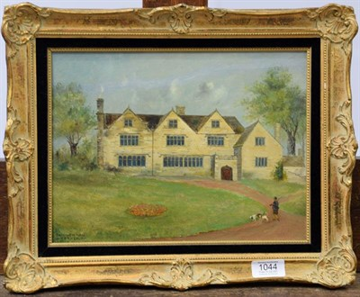 Lot 1044 - Early 20th century English school, architectural view titled Baildon Hall, Yorkshire, oil on...