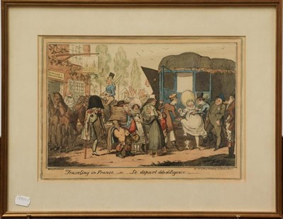 Lot 1049 - After James Gillray, George Cruikshank, William Hogarth 18th / 19th century prints to include a...