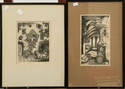 Lot 1052 - Viva Nussey a collection of signed woodcuts together with D M and E M Alderson print of a horse...