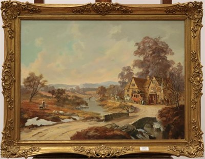 Lot 1057 - Louis Jennings Contemporary, The penine coach, oil on canvas, inscribed verso, 55cm by 75cm