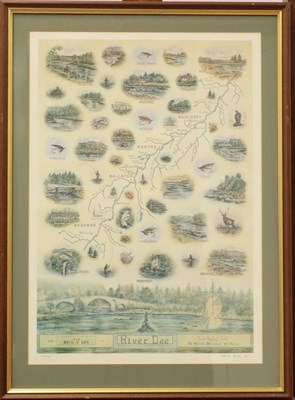 Lot 1061 - David Eley, two limited edition signed prints of the river Spey and the river Dee, 60cm by 42cm (2)