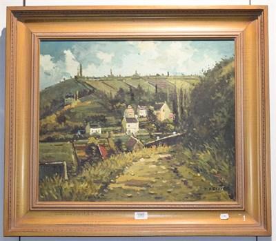 Lot 1063 - D Kessler (contemporary) European village scene, signed oil on canvas, 50cm by 60cm
