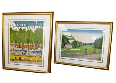 Lot 1064 - After Francois 'Fanch' Ledan (French, b. 1949) artist proof of a golf course and a further print by