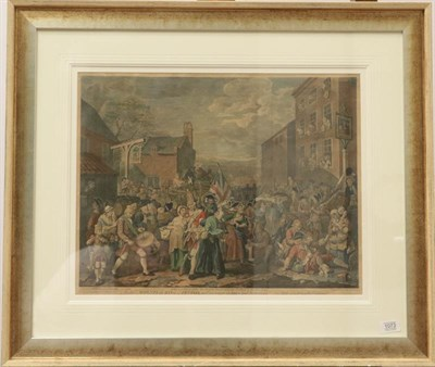 Lot 1073 - After William Hogarth, To his Majesty the King of Prussia, possibly 18th or early 19th century,...