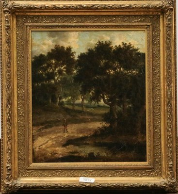 Lot 1074 - A print, late canvas, 19th century, walk in woodlands 34cm by 29cm and a print by Tom Dodson of the