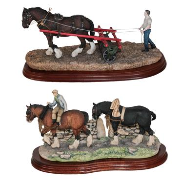 Lot 3 - *  Border Fine Arts 'Coming Home' (Two Heavy Horses), model No JH9B by Judy Boyt, together with...