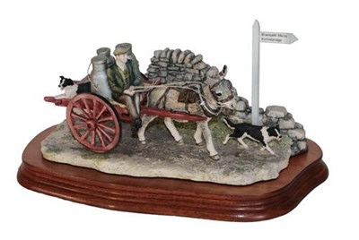 Lot 5 - *  Border Fine Arts 'Delivering the Milk' (Donkey Cart), model No. AG01 by Ray Ayres, limited...