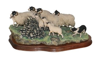 Lot 10 - *  Border Fine Arts 'Gathering In The Strays' (Sheep and Collie), model No. JH28 by Ray Ayres,...
