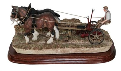 Lot 13 - *  Border Fine Arts 'Hay Cutting Starts Today' (Standard Edition), model No. B0405A by Ray...