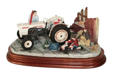 Lot 17 - *  Border Fine Arts 'Like Father Like Son', model No. B0859 by Ray Ayres, on wood base, with...
