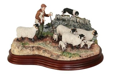 Lot 19 - *  Border Fine Arts 'Off The Fell' (Farmer, Sheep and Border Collie), model No. B1040 by Hans...
