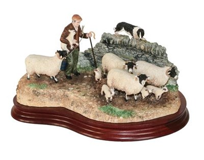 Lot 20 - *  Border Fine Arts 'Off The Fell' (Farmer, Sheep and Border Collie), model No. B1040 by Hans...