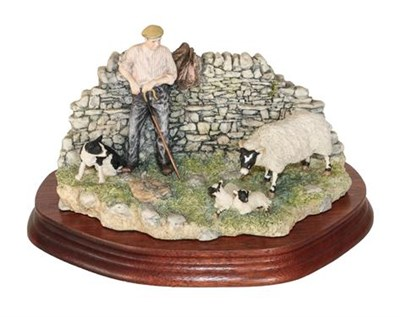 Lot 23 - *  Border Fine Arts 'Safe Delivery' (Shepherd with Ewe Lambing), model No. JH96 by Ray Ayres,...