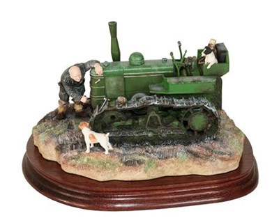 Lot 27 - *  Border Fine Arts 'Starts First Time' (Fowler Diesel Crawler Mark VF), model No. B0702 by Ray...