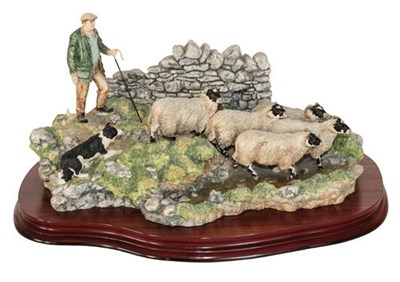 Lot 31 - *  Border Fine Arts 'The Crossing' (Shepherd, Sheep and Collie), model No. B0013 by Ray Ayres,...