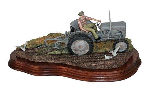 Lot 32 - *  Border Fine Arts 'The Fergie' (Tractor Ploughing), model No. JH64 by Ray Ayres, limited...