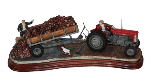Lot 35 - *  Border Fine Arts 'Tipping Turnips', model No. B1037 by Ray Ayres, limited edition 179/750,...