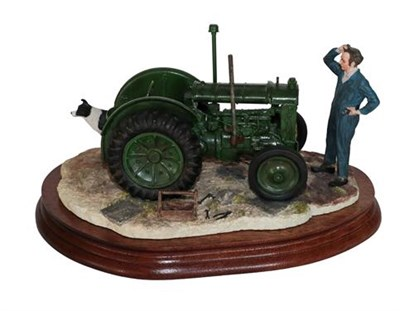 Lot 37 - *  Border Fine Arts 'Won't Start' (Tractor, Farmer and Collie), model No. B0299 by Ray Ayres,...