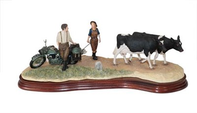 Lot 50 - Border Fine Arts 'Flat Refusal' (Friesian), model No. B0650 by Kirsty Armstrong, limited...