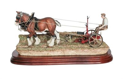 Lot 54 - Border Fine Arts 'Hay Cutting Starts Today' (Standard Edition), model No. B0405A by Ray Ayres,...