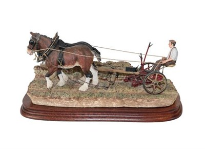 Lot 55 - Border Fine Arts 'Hay Cutting Starts Today' (Standard edition), model No. B0405A by Ray Ayres,...