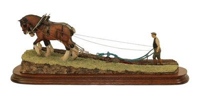 Lot 57 - Border Fine Arts James Herriot Model 'Stout Hearts' (Ploughing Scene), model No. JH34, by Ray...