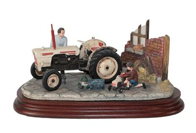 Lot 59 - Border Fine Arts 'Like Father Like Son', model No. B0859 by Ray Ayres, on wood base, with box...