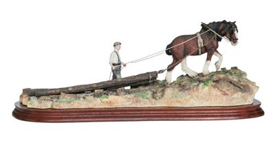 Lot 60 - Border Fine Arts 'Logging', model No. B0700 by Ray Ayres, limited edition 18/1750, on wood...