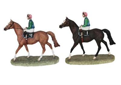 Lot 66 - Border Fine Arts 'On Parade' (Racehorse and Jockey), model No. B0801 by Anne Wall, limited...