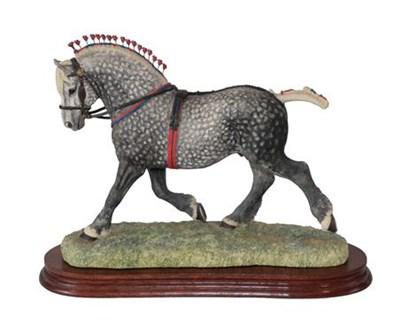 Lot 67 - Border Fine Arts 'Percheron Supreme Champion' (Standard edition), model No. L160D by Anne Wall,...