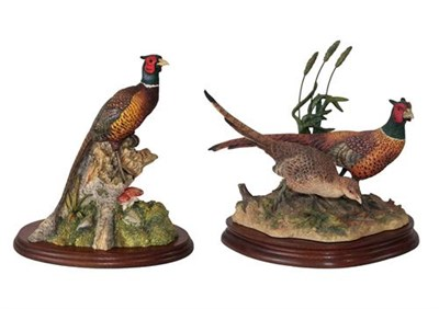 Lot 68 - Border Fine Arts Pheasant Figures comprising; 'Stepping Out' (Pheasants), model No. B1019 by...