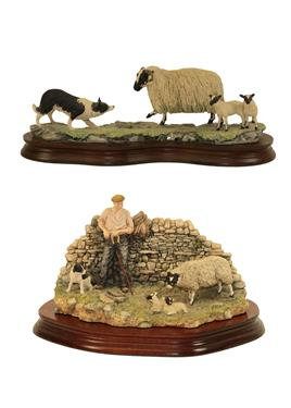 Lot 70 - Border Fine Arts 'Safe Delivery' (Shepherd with Ewe Lambing), model No. JH96, limited edition...