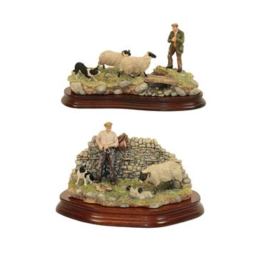 Lot 71 - Border Fine Arts 'Safe Delivery' (Shepherd with Ewe lambing), model No. JH96, limited edition...