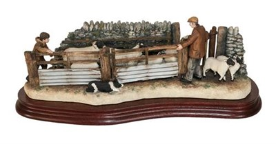 Lot 72 - Border Fine Arts 'Shedding Lambs', model No. B0769 by Ray Ayres, limited edition 170/1250, on...