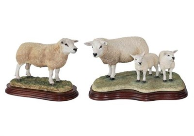 Lot 81 - Border Fine Arts 'Texel Ewe and Lambs' (Style Two), model No. B0658, limited edition 735/1500,...