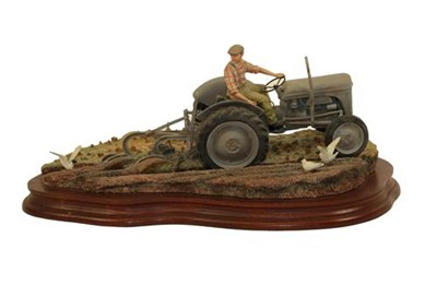 Lot 82 - Border Fine Arts 'The Fergie' (Tractor Ploughing), model No. JH64 by Ray Ayres, limited edition...