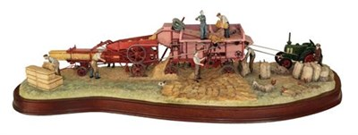 Lot 84 - Border Fine Arts 'The Threshing Mill', model No. B0361 by Ray Ayres, limited edition 79/600, on...