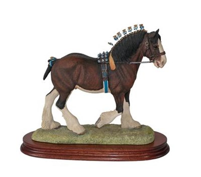 Lot 89 - Border Fine Arts 'Victory at the Highland' (Clydesdale Stallion, Standard edition), model No. L149D