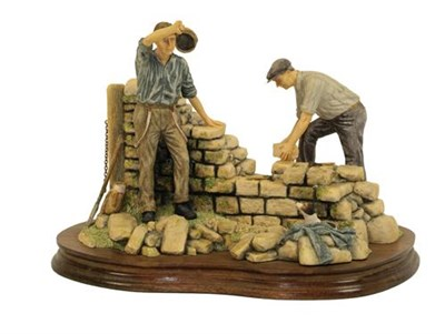 Lot 90 - Border Fine Arts 'Warm Day Walling' (Dry Stone Dyking), model No. JH31 by Ray Ayres, limited...