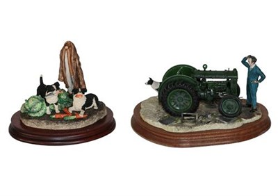 Lot 93 - Border Fine Arts 'Won't Start' (Tractor, Farmer and Collie), model No. B0299 by Ray Ayres, on...